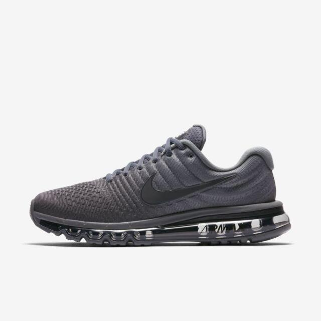 69244c2513 Nike Air Max 2017 Cool Grey Anthracite Dark Grey 849559-008 Men's Running  Shoes