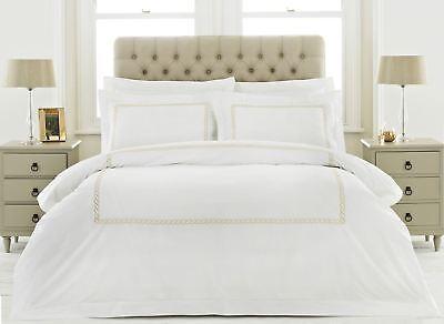 UnabhäNgig 100% Baumwolle 200tc Weißgold Kette Super King Bettbezug Möbel & Wohnen