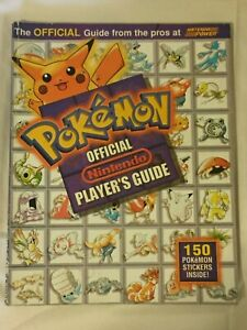 Pokemon-Nintendo-Official-Player-039-s-Guide-w-Untouched-Sticker-Sheet-150-Attached