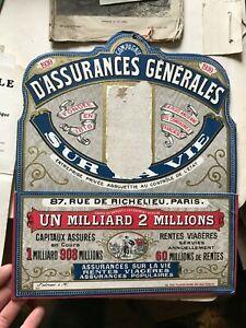 Carton-publicitaire-porte-lettre-compagnie-d-039-assurance-generale-1930