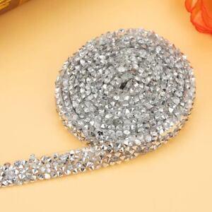 10-Yd-environ-9-14-m-pack-Diamond-Mesh-Wrap-Roll-Cristal-Strass-Bling-Ruban-Mariage-Decor