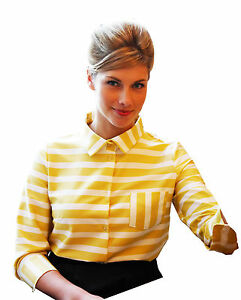 Yellow-White-Horizontal-Stripe-Blouse