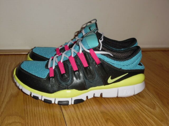 6e9f4dd525c3 NIKE FREE TRAINER 7.0 WOMEN S Size 8.5 RUNNING SHOES BLACK PINK BLUE 354175  071