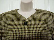 Jones New York Womens Blazer, Jacket, Suit Coat M Houndstooth Camel 81% Wool