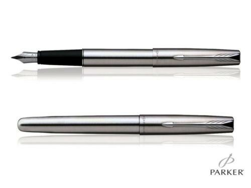 Parker Jotter Stainless Steel Chrome Trim Fountain Pen with premium gift box