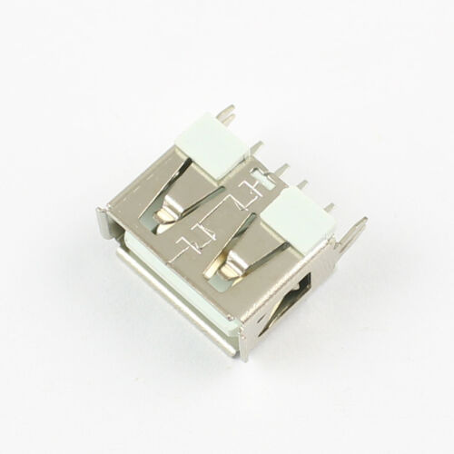 100Pcs New USB 2.0 Female Type A 4 Pin PCB Connector 180 Degree DIY