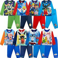 Kids Official Character Pyjama Set Pyjamas Nightwear Long Sleeve Pjs Bottoms Boys Girls Gift 4-12 Years