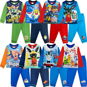 Bambini Set di caratteri Pigiama Pigiama Pjs Nightwear manica lunga Bottoms REGALO...