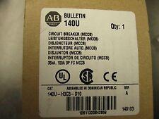 New Allen Bradley 140u H3c3 D10 Breaker 100a New In Box