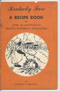 Vintage Kentucky Fare Recipe Cook Book 1953 Margaret Bidwell