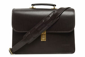 New-KORCHMAR-F1228-LUX-ELLIOT-Leather-Flapover-Gusset-Briefcase-560