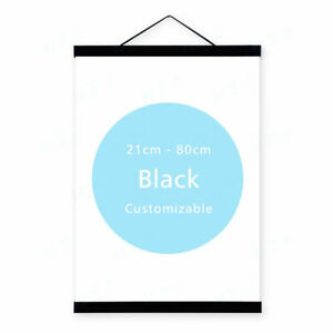 Modern-Black-Wooden-Picture-Scroll-Frame-Photo-Painting-Poster-Backdrop-Hanger