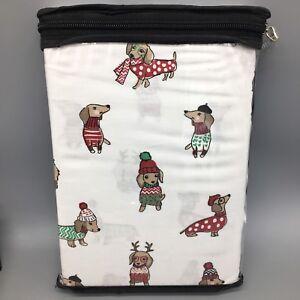 Cynthia Rowley 2 Pillowcase Set Holiday Dachshund Doxie