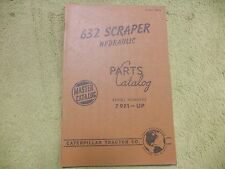 Caterpillar 632 79F1-UP  Tractor Manual Service Parts Book