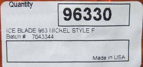 "100 Nickel Ice Jig Blades /""Lip Head/"" Make Custom Ice Fishing Jigs Worth 96330"