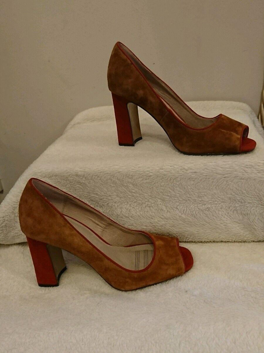 BNWT Women's Forever Comfort by Next Suede Black block heels Size 6.5 RRP £45.00