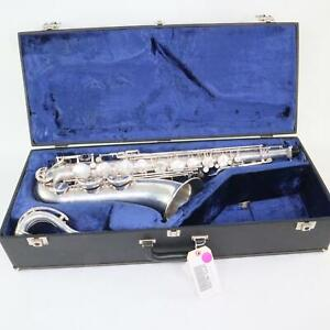 Selmer Paris Super Balanced Action Tenor Saxophone SN 46208 ORIGINAL SILVER