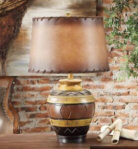 Reservation rustic table lamp indian dakota southwest aztec design image is loading reservation rustic table lamp indian dakota southwest aztec aloadofball Images
