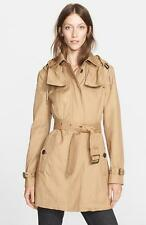 BURBERRY BRIT Fenstone Single-Breasted Raincoat, sz S/P