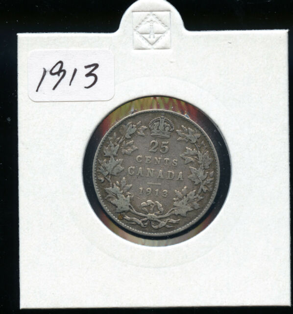 1913 Canada 25 Cents F AB50