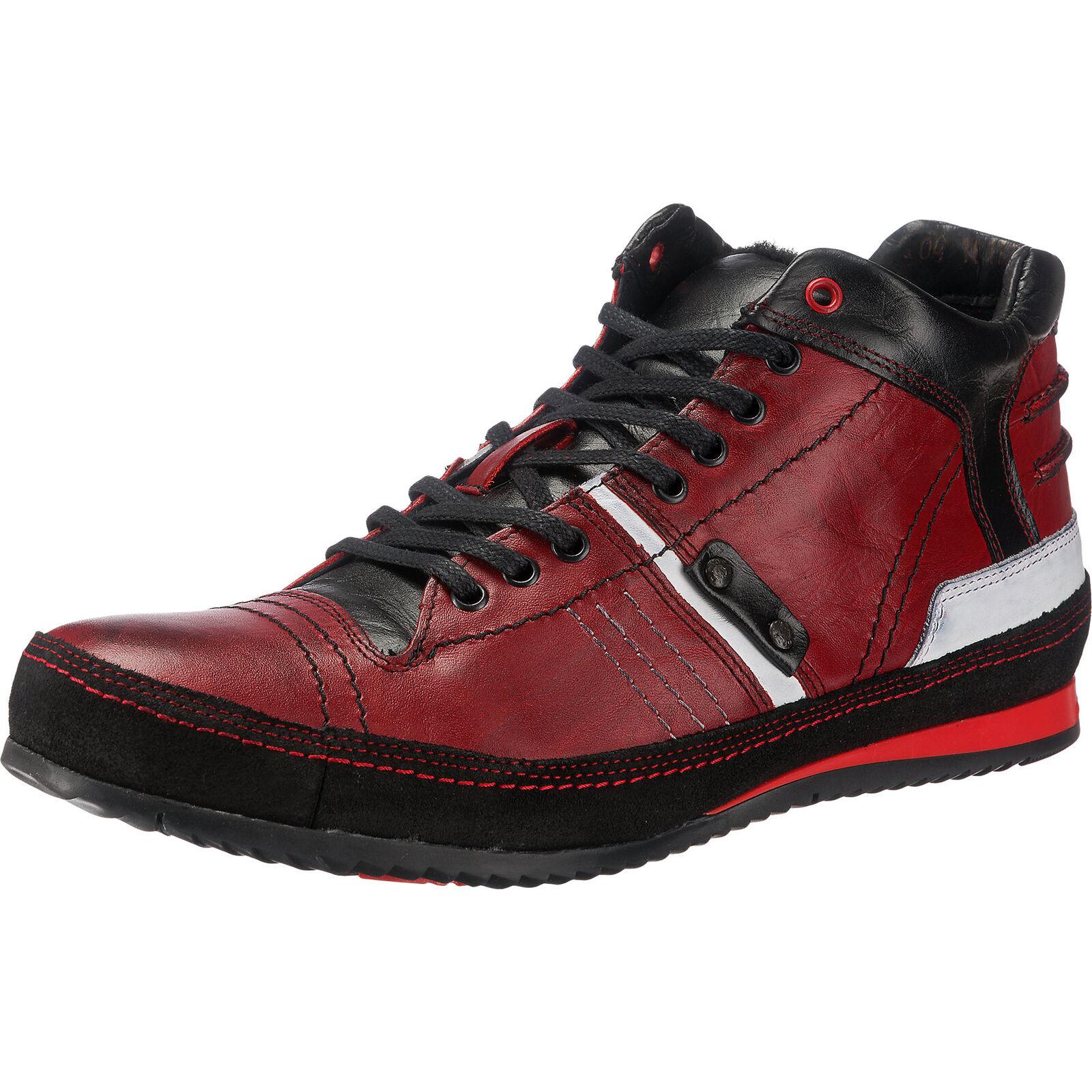 Neu Kristofer Freizeit Schuhe rot-kombi 5762979