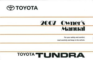 2007 toyota tundra owners manual user guide ebay rh ebay com tundra owners manual 2008 tundra owners manual 2016
