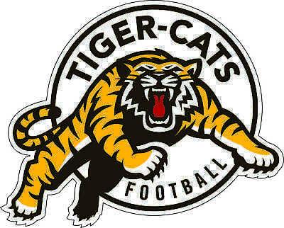 "5/""x4/"" Hamilton Tiger-Cats CFL Football bumper sticker window decor vinyl decal"
