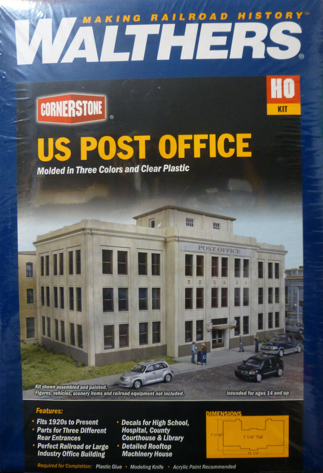Walthers Cornerstone HO Scale  933-3782 United States Post Office -- Kit