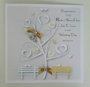 ... Wedding Card & Gift Wallet Brother Sister In Law BOXED OPTION eBay