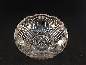 Decorative-Scalloped-Etched-Glass-Bowl-6-034-Diameter-3-1-2-034-Depth