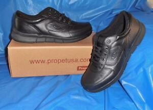 Propet-Men-039-s-Black-Walking-Shoe-Very-Comfortable-size-9-1-2-X-EEE