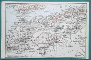 Map Of Spain Gibraltar And Morocco.West Algeria East Morocco Gibraltar Southern Spain 1911 Baedeker