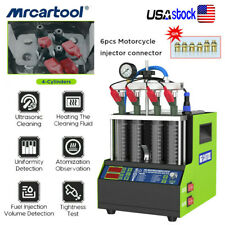 Petrol Car Fuel Injector Tester Cleaning Machine Ultrasonic Cleaning Heating Us