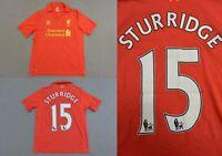 The Reds 2012-13 WARRIOR Liverpool FC Home STURRIDGE 15 Shirt SIZE XL.Boys, XS