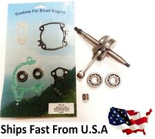 Crankshaft For Stihl Ts420 Ts410 Bottom End Rebuilt Kit Bearings Gasket Set