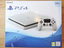 Sony PlayStation 4 (PS4) slim glacier white (500GB) NEU u.ORIGINALVERPACKT+Rechn