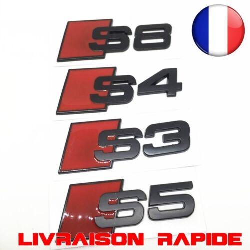 Logo Autocollant Emblème Voiture Auto AUDI S3 S4 S5 S6 S8 Aluminium 3D Métal