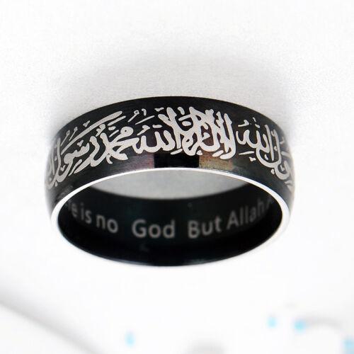 Männer Frauen Ring Punk Liebhaber Muslim Islamischen Titan Stahl Klassische 8mm