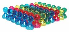 48 Translucent Assorted Color Small Push Pins - High Grade Neodymium Magnets