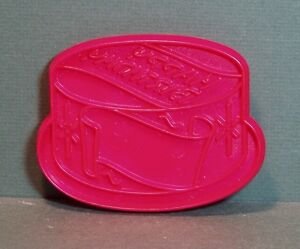 Image Is Loading Vintage Tupperware Red Plastic Cookie Cutter Happy Birthday