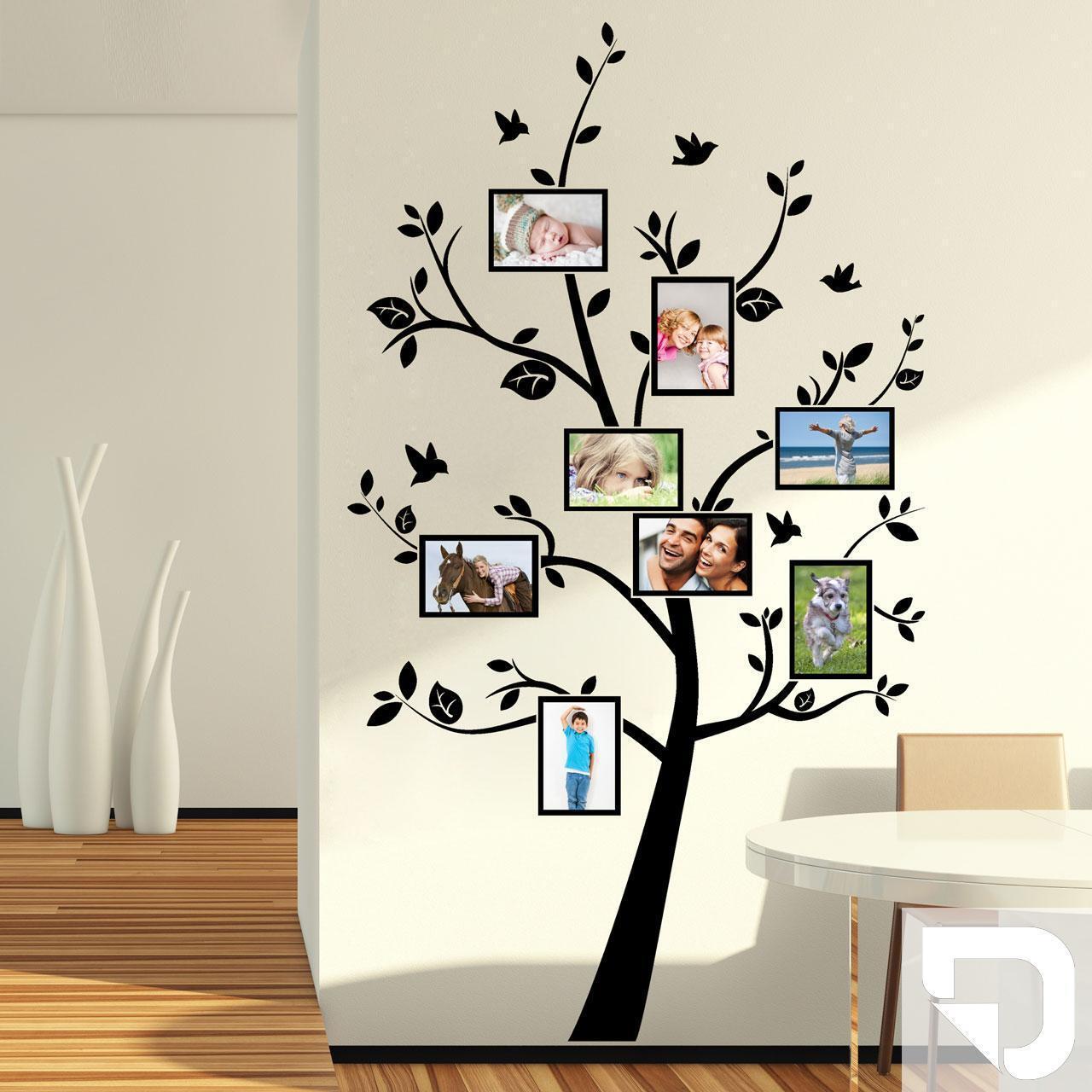 Wandtattoo Bilderbaum - Wandtattoo Fotorahmen mit Baum von DESIGNSCAPE®