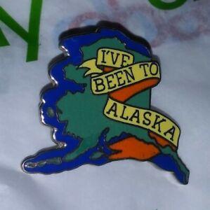 Vintage RARE I've Been To Alaska STATE TRAVEL usa Pinback Button PIN