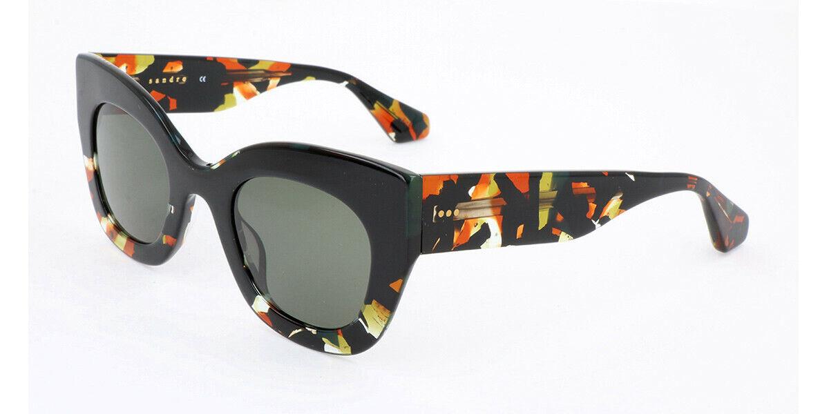 300 Sandro Designer Français épais noir & multicolore Cat Eye Lunettes de soleil SD6009