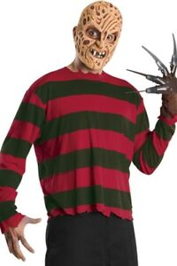 Freddy Krueger Nightmare On Elm Street Halloween Mens Costume Mask Gloves Shirt