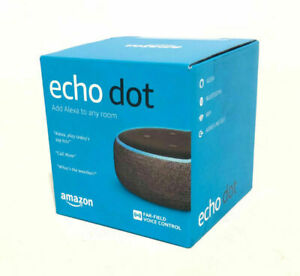 Amazon-Echo-Dot-3rd-Gen-w-Alexa-Voice-Media-Device-Charcoal-Gray-BRAND-NEW