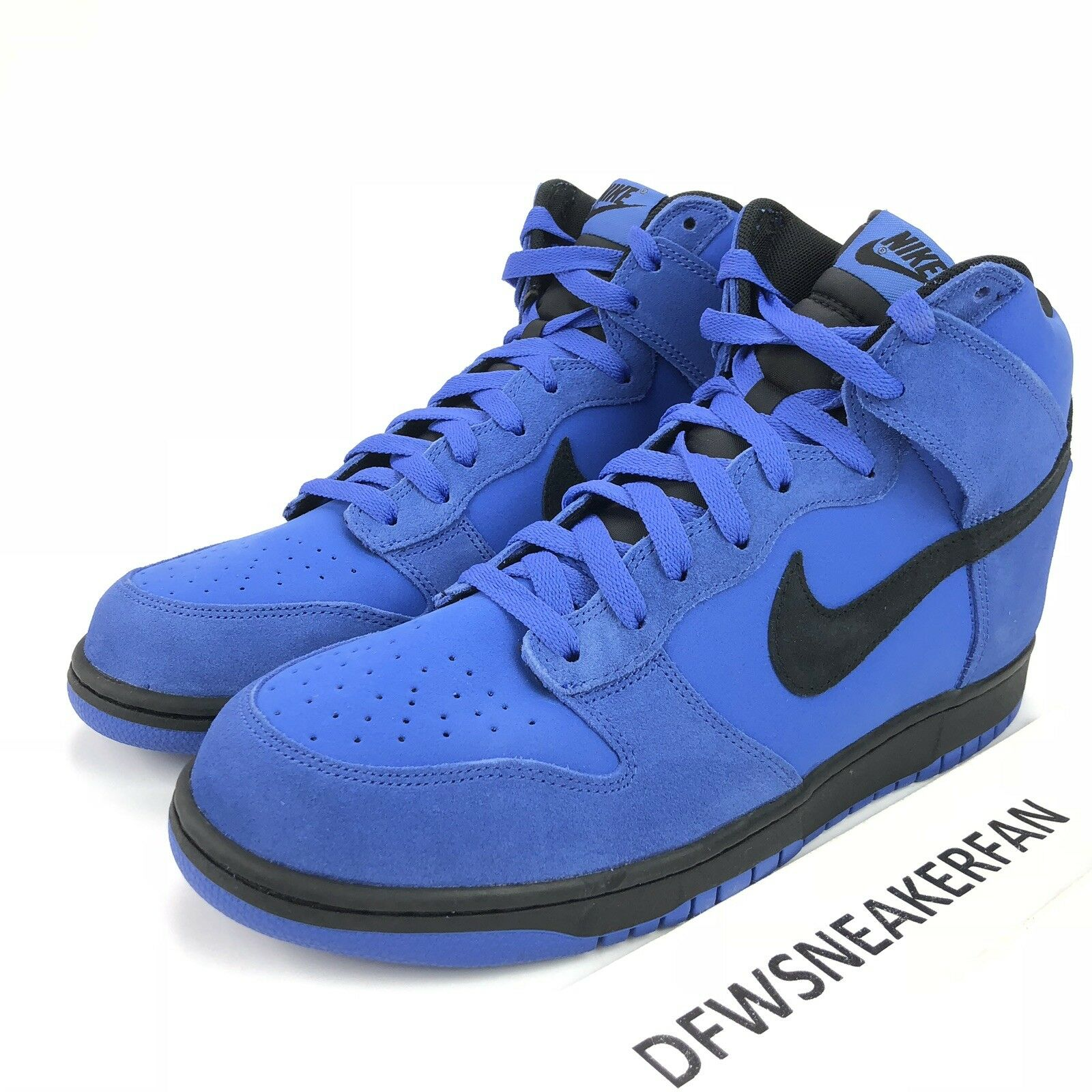 165f883fc587 Nike Dunk Hi Comet Men s Size Size Size 9 bluee Suade Black 904233-401 New
