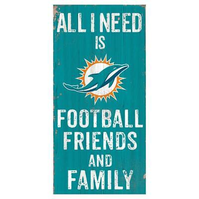 Fan Creations Miami Dolphins Home Sweet Home Wood Sign 12x6