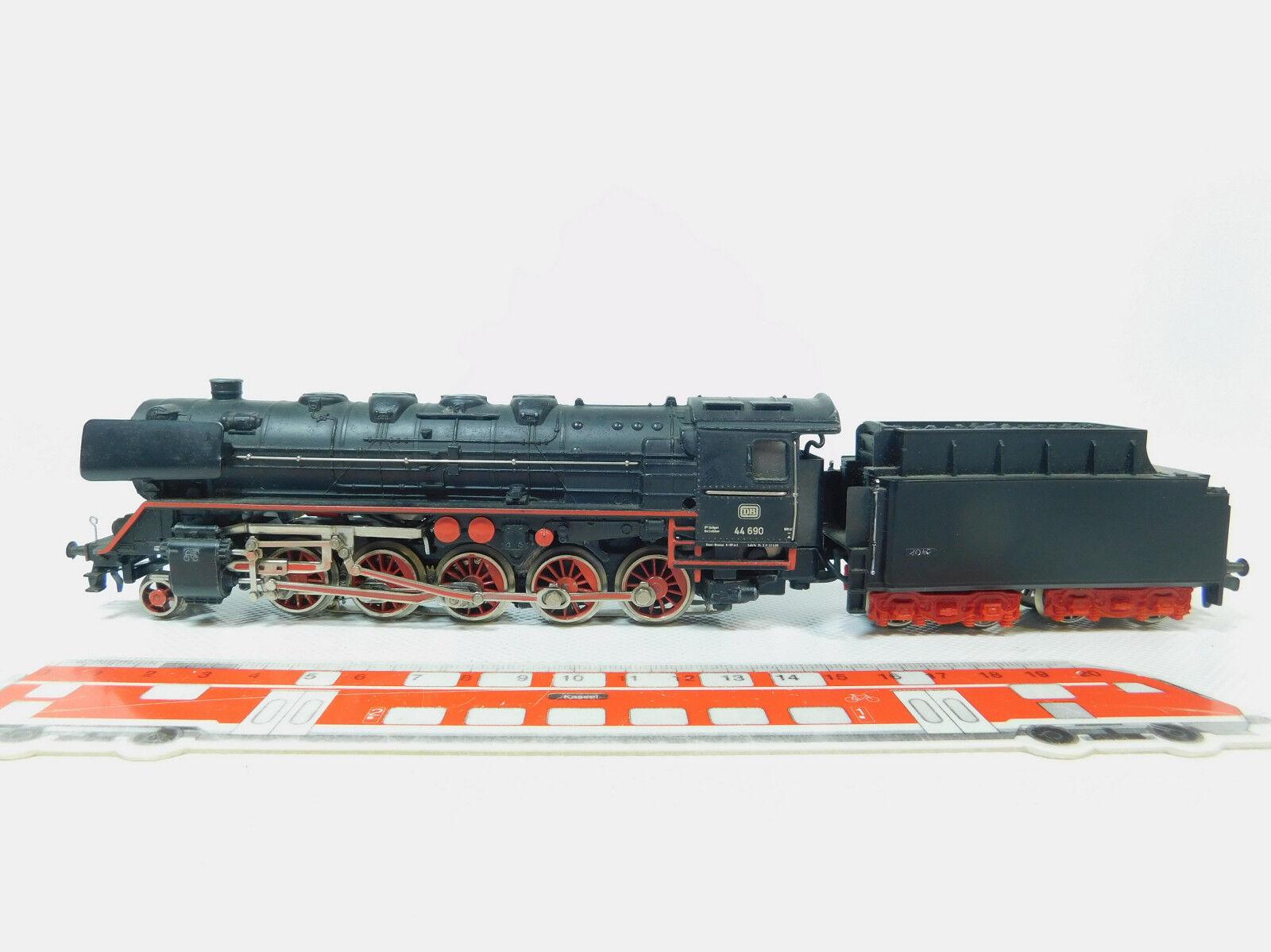 Bl286-3MÄRKLIN H0 AC 3047 guss-dampflokomotive (Without Vapor) 44 690 DB Telex