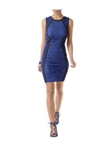 royalblau-schwarz Alba Moda Damen Spitzen-Etuikled