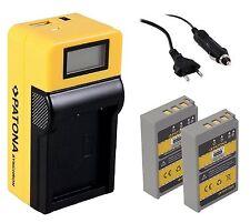 2x Patona Battery Pack Akku + LCD Ladegerät für Olympus Pen E-PL8 / BLS-5 BLS-50